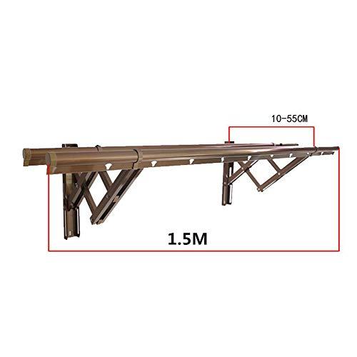 Rziioo Teleskop Kleiderbügel, Haushaltsgeländer Geländer Outdoor Push-Pull Kleidung Rod,A,1.5M -