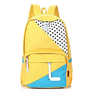 4166jyHAMTL. SS300  - FASHION PLAZA Stylish Backpack - Bolso Mochila de Lona para Mujer M