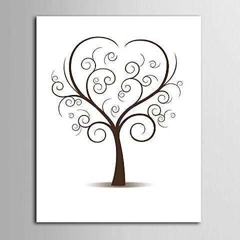 Impronta personalizzata pittura stampe su tela - albero amore (include 12 inchiostro FColors) , blank ,