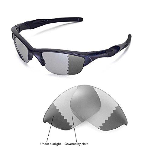 Walleva Ersatzgläser für Oakley Half Jacket 2.0 Sonnenbrille - Mehrfache Optionen (Übergang/Photochromisch - Polarisiert)