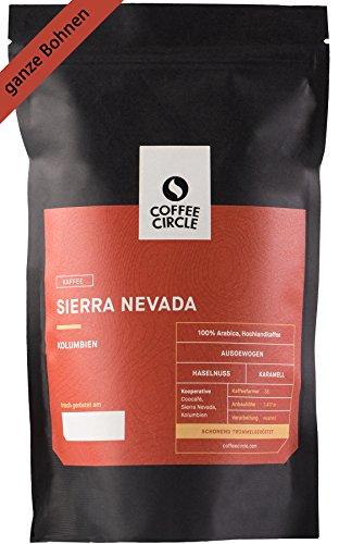 Coffee Circle | Premium Kaffee Sierra Nevada | 1kg ganze Bohne | Vollmundiger Bio Filterkaffee aus Kolumbien | 100% Arabica | fair & direkt gehandelt | frisch & schonend geröstet