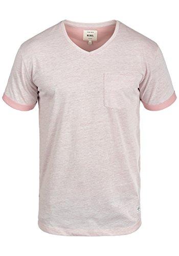 Redefined Rebel Moses Herren T-Shirt Kurzarm Shirt Mit V-Ausschnitt, Größe:M, Farbe:Faded Rose