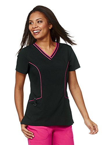 Xtreme Stretch Damen V-Neck Solid Peeling Top XX-Large Schwarz (Dickies-schwarz-peeling)
