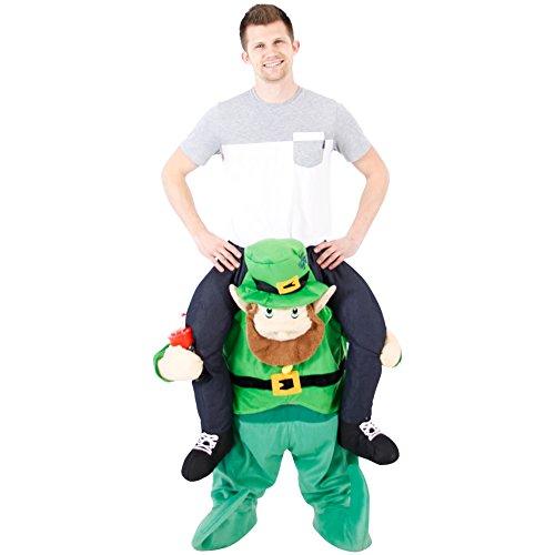 Piggyback Ride On Leprechaun Costume (Kostüme Erwachsene Bigfoot Für)