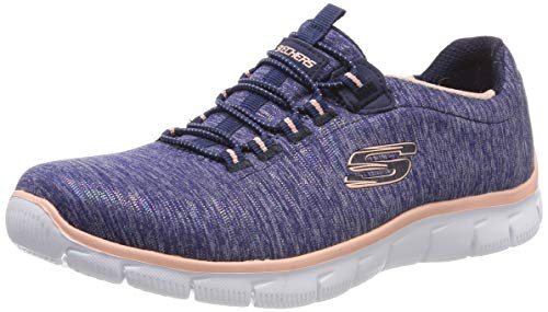 Skechers Women's Empire See YA Trainers, Blue (Navy Coral Nvcl), 3.5 (36.5 EU)