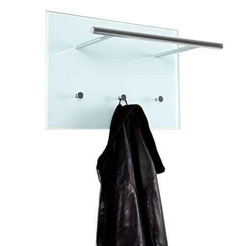 Exklusive Design Wandgarderobe AZZARETTI weiss Garderobe Glas