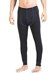 Xaed Pantalones Interior Funcion Hombre Ski, Pantalon Interior Funcion Ski, Hombre, Negro/Azul, M