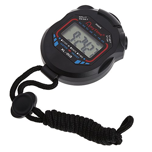 Cuigu Cronometro digitale con display LCD per allenamento sportivo colore nero