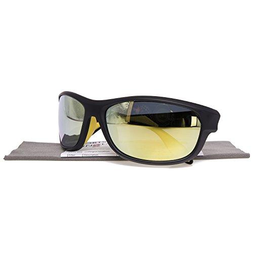 GlobaLink® Sport Sonnenbrille Sportbrillen Fahrerbrille Polarisiert mit UV400 Schutz superleichter Rahmen aus TR90 für Herren und Damen - Skifahren Radfahren Golf Laufen Angeln in Grün