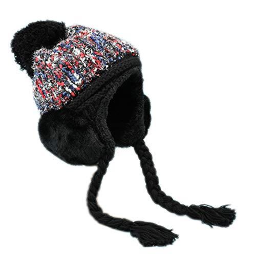 Nosterappou Bonnet d'hiver décontracté pour les étudiants en hiver, bonnet de vol chaud épais, doux et confortable, convient à toutes les activités de plein air, bonnets de ski, tour de tête élastique