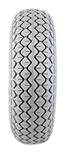 1 Grey Solid Block Tread Mobility Scooter Tyre 330 x 100 (4.00-5)