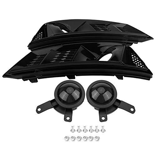Outbit Nebelscheinwerfergrill - 1 Paar für S4 Style Glossy Black Frontstoßstange Nebelscheinwerfergrill mit Acc für Audi A4 B9 2017-2018