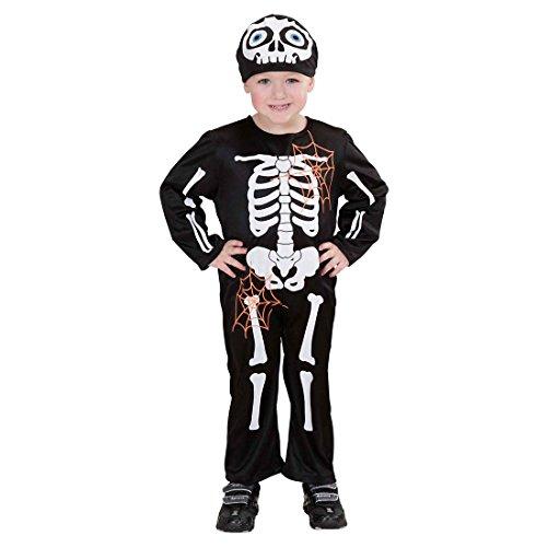 Kostüm X Kind Ray Skelett (Skeleton Kostüm Skelett Kinderkostüm 104 cm Gerippe Jungenkostüm X-Ray Knochen Jumpsuit Untoter Röntgen Ganzkörperkostüm Knochenmann)