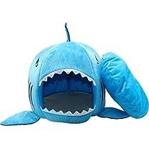BADASS SHARKS Tiburón de diseños Caseta Perro Cama Cesta Perros y Gatos Cama con cojín Perro