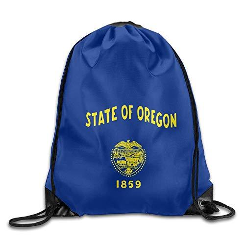Nicegift American Oregon State Flag Sackpack Drawstring Bags Polyester Backpack Outdoor Sports Gym Bag Yoga Runner Daypack Team Training Gymsack Big Capacity 16.9