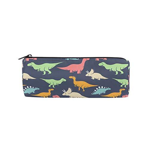 ren Cartoon Dinosaurier Muster Nette Bleistift Taschen Runde Tragbare Tasche für Schule Kinder Kinder Kosmetiktasche Make-Up Beauty Case ()