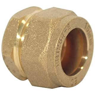 Plumb-Pak Compression Stop End 15mm - Pack of 5