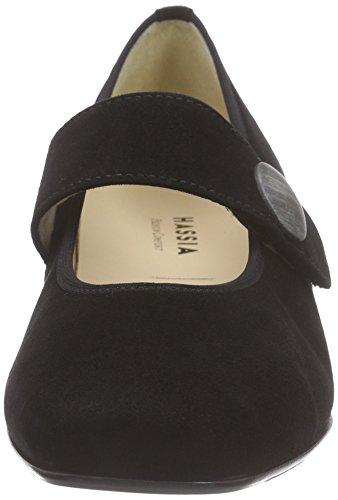 Hassia Evelyn, Weite J, Chaussures à talons - Avant du pieds couvert femme Noir - Schwarz (0100 schwarz)