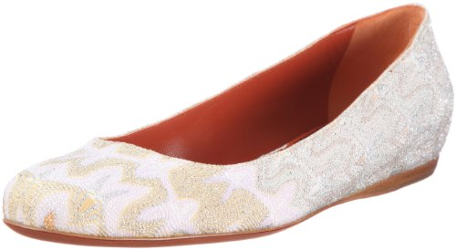Missoni BALLERINA PIEGATA TM32 C, Ballerine donna, Bianco (Weiss (NATURAL)), 38.5