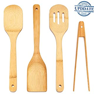 Bamboo Cooking Spoon Set-Spatulas Kitchen Tools Wooden Utensil Set Kitchen Food Tong Nonstick Pan CookwareTuners|Spoons|Magnetic Wooden Toaster