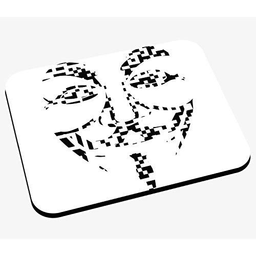 Mausunterlage Anonym Gesicht in Schwarze Quadrate