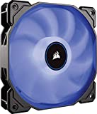 Corsair AF140 LED High Airflow LED PC-Gehäuselüfter (120mm, mit Hydraulik-Lager, Single Pack) blau
