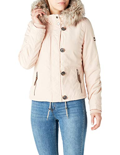 ONLY Damen Jacke onlPEYTON AW Short FUR Jacket CC OTW, Rosa Cameo Rose, 36 (Herstellergröße: S)