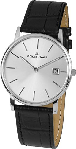 Jacques Lemans Unisex Analogue Watch with Metallic Dial Analogue