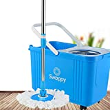 WAMSY Vadrouille Clean Mop Bucket Set Easy Operate Home Cleaning Mop Head Mop Bucket...