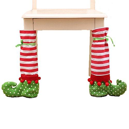 Nouveau Noël Décorations Christmas Pieds de table Fletion Noël Sac de bouteille Christmas Ensembles d'angle de chaise