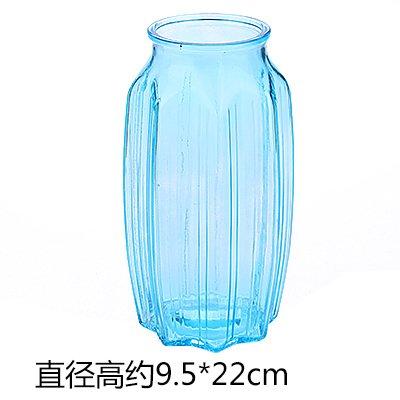 NIUXX Moderno Minimalista Jarrones De Cristal De Agua De Bambú Enriquecido Pui Contenedor Swing En Sala, Decorada Con Motivos Florales De Flores Secas Grandes Maceteros Transparente, Azul