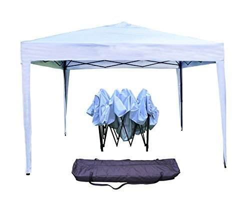 Gazebo richiudibile 3x3 pieghevole a fisarmonica automatico mercato tenda con sacca colore bianco *gazecobianco*