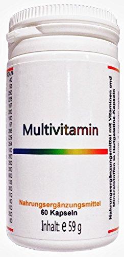 Multivitamin Mineral - Nahrungsergänzungsmittel - 60 Kapseln - aus deutscher Traditionsapotheke - mit Homöopathie-Ratgeber