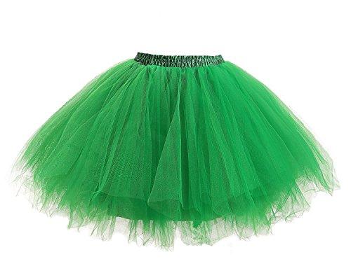 tu Rock Tüllrock Tütü Crinoline Minirock Reifrock Unterrock Kleid Tüll Grün (Grüne Kostüme Für Frauen)
