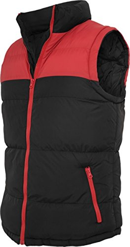 Urban classics veste pour homme 2 tons bubble vest to 346 coupe regular fit Multicolore - Noir/rouge