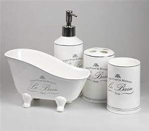 signes grimalt set accessori bagno 4 pezzi le bain