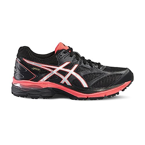 Asics Damen Gel-Pulse 8 G-Tx Trainingsschuhe, Schwarz BLACK/SILVER/FLASH YELLOW