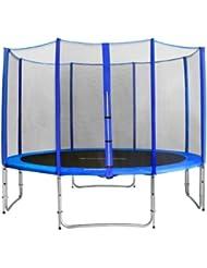 SixBros. SixJump 3,70 M Trampoline de jardin bleu Certifié par Intertek / GS - CST370/L1714