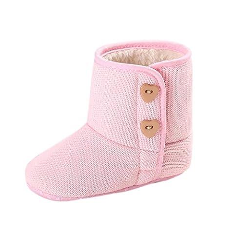 kingko® Fille de bébé Lit de bébé Chaussures Bouton enfant