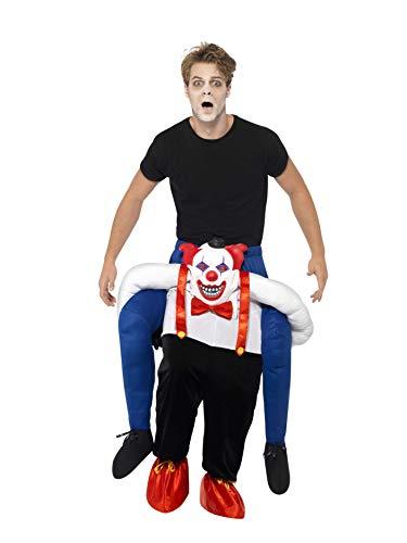 Smiffys 45201 - Unisex Grusel Clown Huckepack Kostüm, Einteiler mit Beinen, One Size, blau