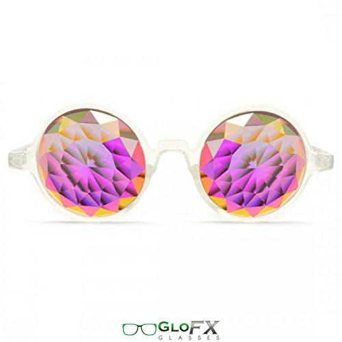 GloFX Herren Rahmen Regenbogen Kaleidoskop Brille Einheitsgröße klar
