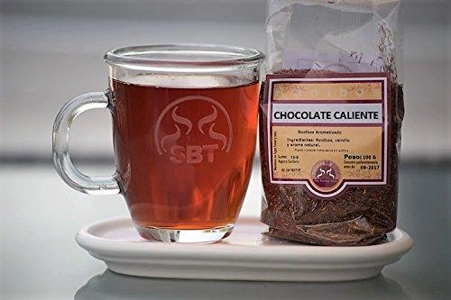 SABOREATE Y CAFE THE FLAVOUR SHOP Saboreateycafe Té Rooibos Chocolate Caliente en Hebra Hoja Granel 100 Gramos Infusiones Naturales, Bebida Isotónica