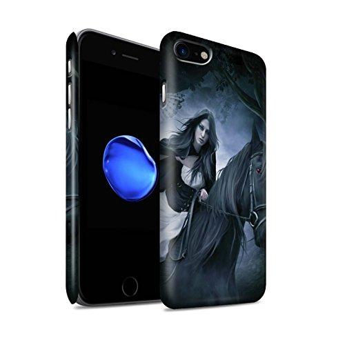 Officiel Elena Dudina Coque / Clipser Matte Etui pour Apple iPhone 8 / Le Brave/Chaton Design / Les Animaux Collection Trois dans la Nuit