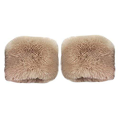 Kostüm Paar Weiblich - Tonsee 2015 herbst Winter warme Fell Manschette Handschuhe Imitation Kaninchen Pelz Ärmel weiblichen Handgelenk Armband Fell Winter Sätze (Caffee) (Caffee)