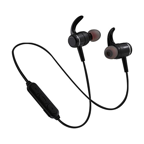 Bluetooth Kopfhörer Headset, EUASOO Wireless Bluetooth 4.1 in Ear Kopfhörer Sport, Schweißsicher Stereo CVC 6.0 Geräuschunterdrückung Bluetooth Ohrhörer Joggen für IOS, Android Bluetooth-Gerät