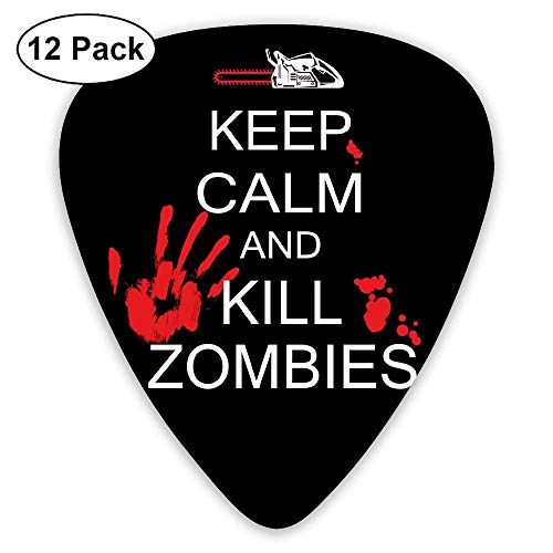 Keep Calm Kill Zombies Halloween 351 Shape Classic Picks 12 Pack For Electric Guitar Acoustic Mandolin Bass