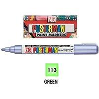 ZIG Posterman Marcadores Medium Fluorescent Green Original PMA-30