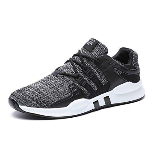 Neoker scarpe da ginnasticabasse donna uomo sneaker running tennis sportive shoes grigio 41