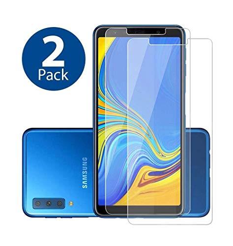 aktrend Samsung Galaxy A7 2018 Panzerglas 2 Stück 9H Härte Super Langlebig Anti-Öl Panzerglasfolie Bildschirmschutzfolie Panzer Glas Folie für Samsung Galaxy A7 A750 6 Zoll 2018