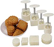 Hleeduo?? Mid-Autumn Festival Hand-Pressure Moon Cake Mould with 12 Pcs Mode Pattern for 4 Sets by SOGNIMIEI